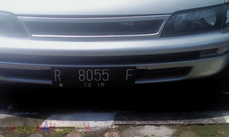 Great Corolla Plat Nomor Boss