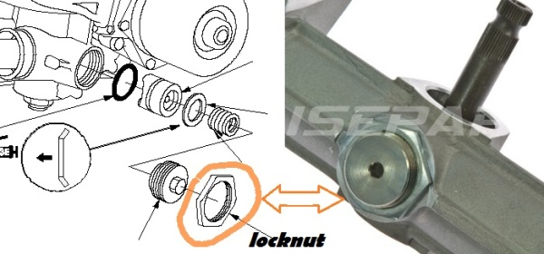 Racksteer Yoke Adjuster Locknut