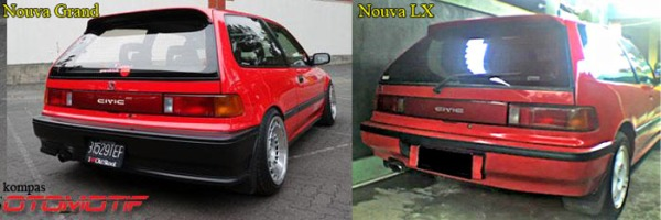 Civic Nouva Grand vs LX back