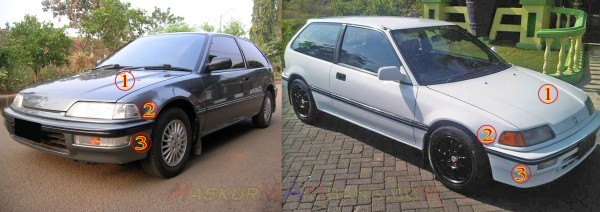 Civic Nouva Grand vs LX front