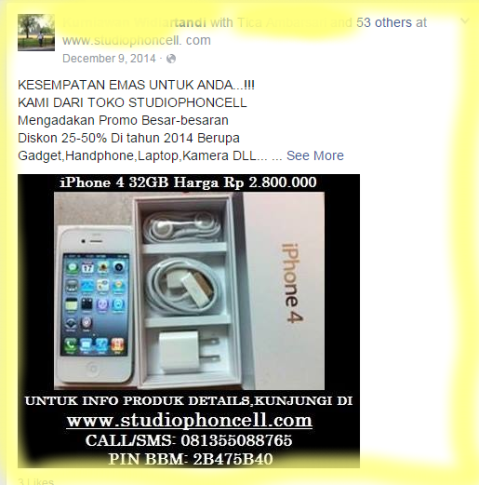 Facebook Idle Diserang SPAM 2