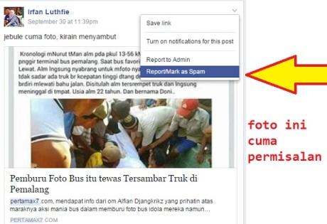 Jemuran Dilaporkan Spam