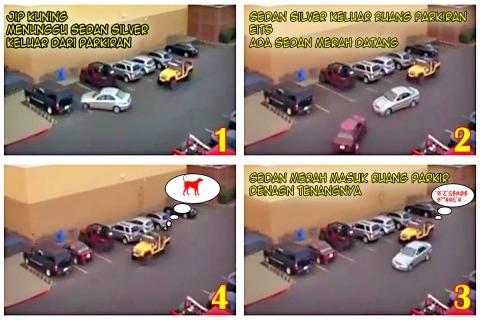 Akibat nyerobot parkir JIP 01