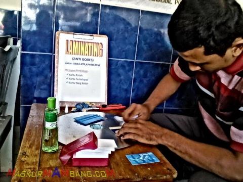 Laminating SIM
