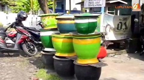 ban bekas jadi pot
