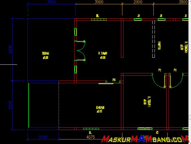 Desain Rumah Minimalis Lebar 3 Meter  desain rumah utamakan garasi atau ruang tamu