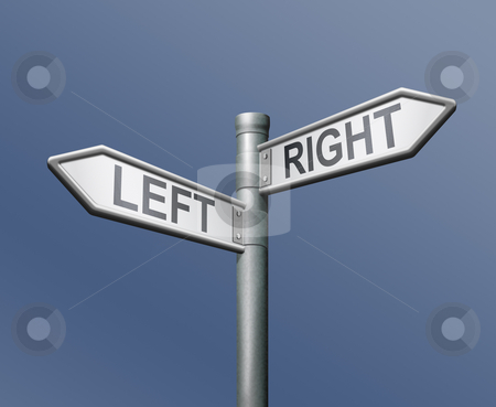 left right road sign equal choice