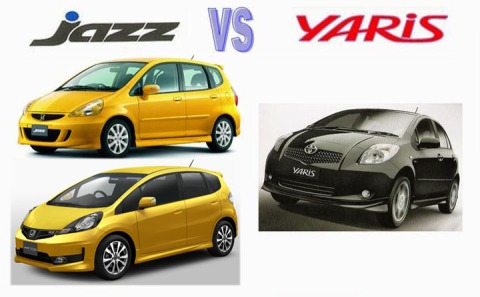 Jazz vs Yaris Gen 1