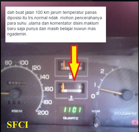 Speedometer Forsa terlalu dingin
