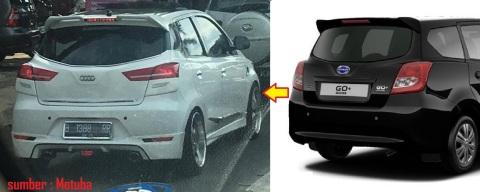 Datsun Go Panca modif belakang compare