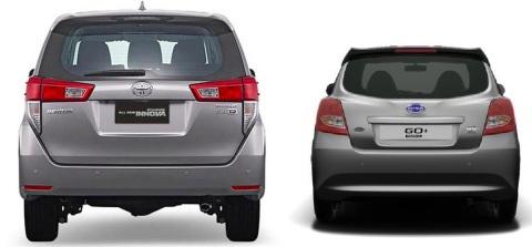 Innova vs Datsun Go Panca Belakang
