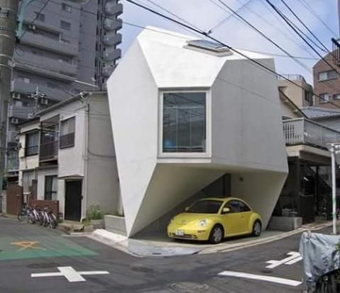 Rumah Kecil Di Jepang Punya Garasi kecil