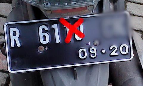 Salah Plat Nomor 2016