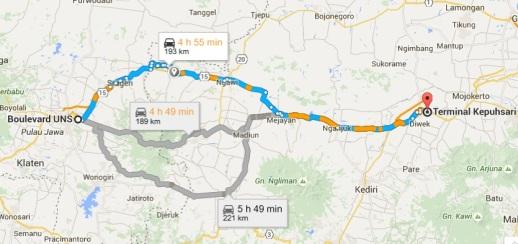 Solo - Jombang, 4 jam
