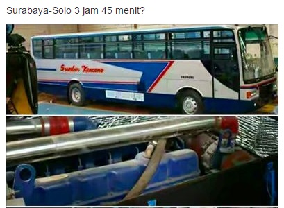 Sumber Kencono Surabya Solo - 3 jam 45 menit