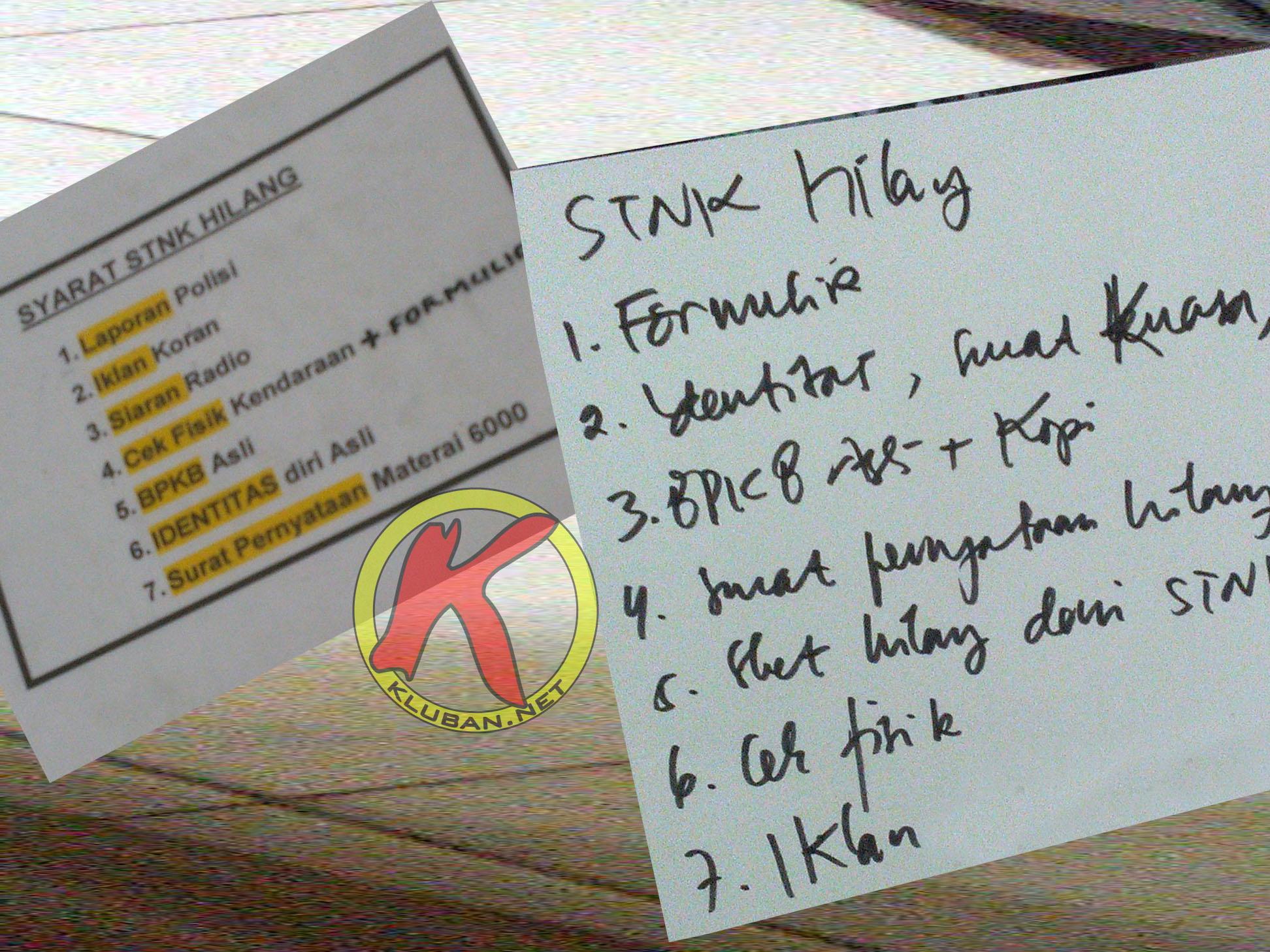 Cara Mengurus Stnk Hilang Mudah